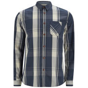 Jack & Jones Men's Walter Checked Shirt - Dress Blue