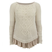 HIGH Women's Top Notch Knitwear - Cream