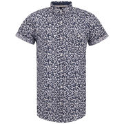 Soul Star Men's Leopard Shirt - Navy