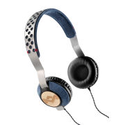 The House of Marley Liberate Headphones, Inc 3 Button In-Line Remote and Mic - Denim