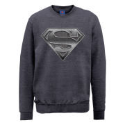 DC Comics Sweatshirt - Superman Plate Logo - Steel Grey