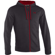 Under Armour Men's CC Storm Transit FZ Hoody - Carbon Heather/Red