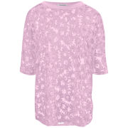 Glamorous Women's Burnout Daisy Top - Pink