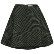 Opening Ceremony Women's Dimensional Fingerprint Circle Skirt - Marble Green Multi
