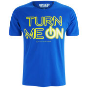 Xplicit Men's Turn Me On T-Shirt - Deep Azure