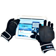 ISGLOVES Touchscreen Mittens (Sports model) - Black