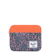 Herschel Anchor iPad Sleeve - Purple Leopard/Orange Polka Dot