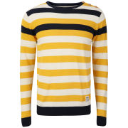 Crosshatch Men's Feda Striped Knitted Jumper - Mineral Yellow