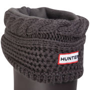 Hunter Women's Moss Cable Welly Socks - Graphite