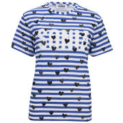 Sonia by Sonia Rykiel Women's Stripe and Heart Print T-Shirt - Multi