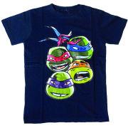 Teenage Mutant Ninja Turtles Kid's T-Shirt - Faces - Blue