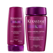 Kerastase Reflection Bain Chroma Captive 250ml and Reflection Fondant Chromacaptive 200ml Bundle