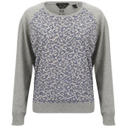 Maison Scotch Women's Leopard Sweatshirt - Grey/Blue