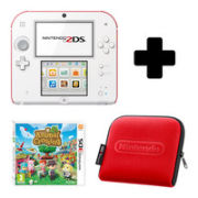 Nintendo 2DS White & Red Console: Bundle includes Animal Crossing New Leaf