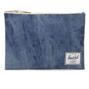 Herschel Extra Large Network Pouch - Acid Washed Denim
