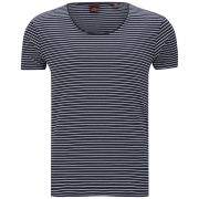Scotch & Soda Men's Classic Crew Neck Cotton Stripe T-Shirt - Navy