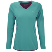 RonHill Women's Aspiration Long Sleeve Running T-Shirt - Teal/Grape