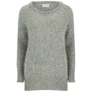 American Vintage Women's Round Neck Pullover - Heather Grey