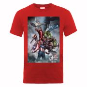 Marvel Avengers Assemble Team Montage Men's T-Shirt - Red