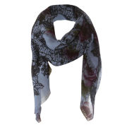 Codello Infinity Love Flowers With Lace Border Scarf