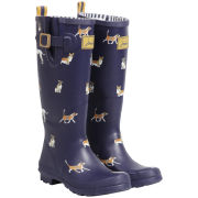 Joules Women's Welly Print Wellies - Navy Dog