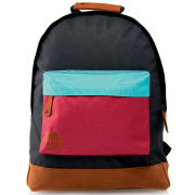 Mi-Pac Tonals Colourblock Pocket Backpack - Black/Teal/Burgundy