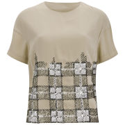 By Malene Birger Women's Delfina Sequined Top - Champagne