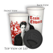 Twilight Eclipse Team Edward with Filigree Mug