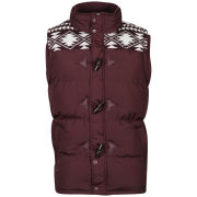 Brave Soul Men's Burnley Gilet - Burgundy