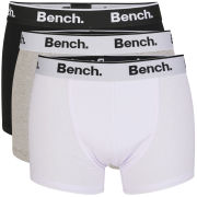 Bench Men's 3-Pack Keddie Boxers 3 Colour Pack - Black/White/Grey