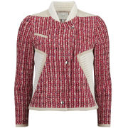 IRO Women's Textured Aubrey Jacket - Red Multi - 36 EU 36/UK 8 Red