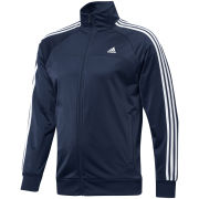adidas Men's Essential 3 Stripe Track Top - Navy/White