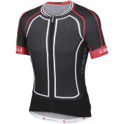 Castelli Aero Race 5.0 Full Zip Jersey - Black/White/Red