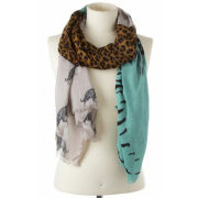 Codello Poetry Grunge Tiger And Leo, Brushed, Heavy Scarf