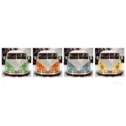 VW Californian Camper Beach Quad - Door Poster - 53 x 158cm
