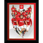 Manchester United Players 13/14 - Collector Print - 30 x 40cm
