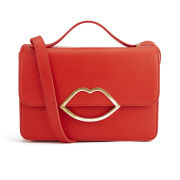 Lulu Guinness Leather Edie Small Leather Cross Body Bag - Red