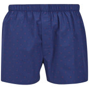 Sunspel Men's Short Dots and Crosses Boxer Shorts - Navy