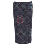 Damned Delux Women's Folk Pencil Skirt - Multi