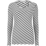 American Vintage Women's Kira Valley Round Neck T-Shirt - White Striped Black
