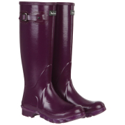 Barbour Women's High Gloss Wellington Boots - Purple
