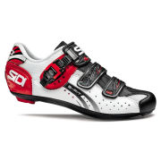 Sidi Genius 5 Fit Carbon Cycling Shoes - White/Black/Red - 2015