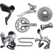 Shimano 105 5700 10 Speed 39/53 Groupset - Silver