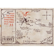 The Hobbit Parchment Mountain Map Maxi Poster (61 x 91.5cm)