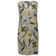 Love Moschino Women's Sleeveless Printed Shift Dress - Taupe