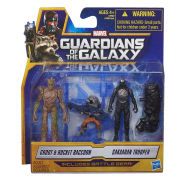 Guardians of the Galaxy Groot, Rocket Raccoon and Sakaaran Trooper Action Figures