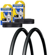 Schwalbe Lugano Clincher Road Tyre Twin Pack with 2 Free Inner Tubes - Black 700c x 25mm