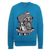 Star Wars Christmas Happy Holiday Droids Sweatshirt - Royal Blue