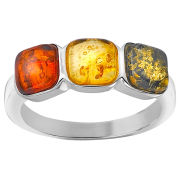 Amber Triple Coloured Jewel Ring