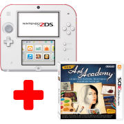 Nintendo 2DS White & Red Console: Bundle includes New Art Academy